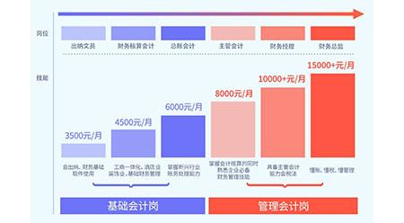 会计从业者年薪分布图